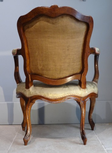 """French Pair Of Louis XV fauteuils """"cabriolet"""" -"""