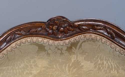 """Louis XV - French Pair Of Louis XV fauteuils """"cabriolet"""""""