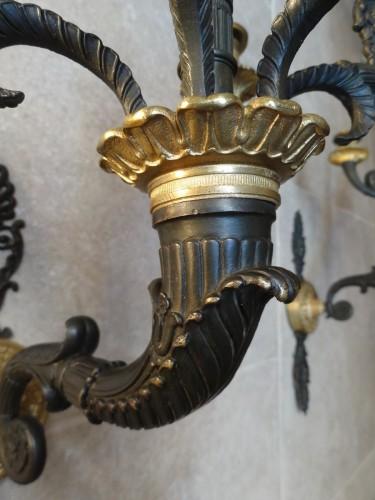 French gilt bronze sconces 19th century -