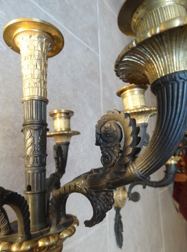 Empire - French gilt bronze sconces 19th century