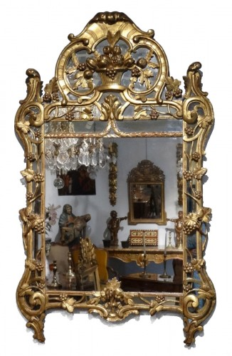 "French ""Provençal"" mirror in gilded wood 18th century"