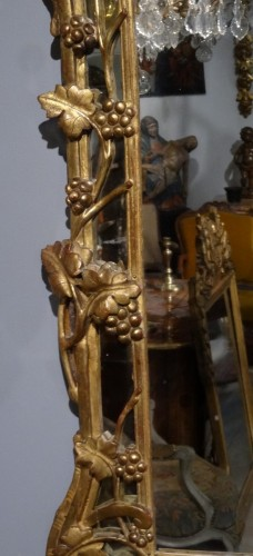 """French """"Provençal"""" mirror in gilded wood 18th century - Mirrors, Trumeau Style Louis XV"""