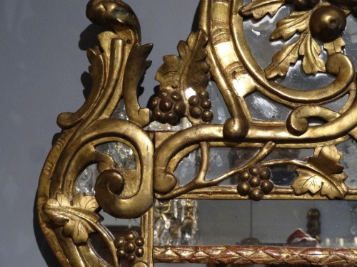 """18th century - French """"Provençal"""" mirror in gilded wood 18th century"""
