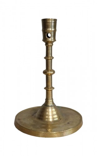 "Gothic Candlestick ""flemish"" Bronze Late 15th Century"