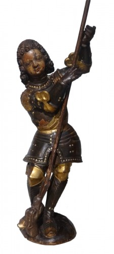 German St George carved 18th century.