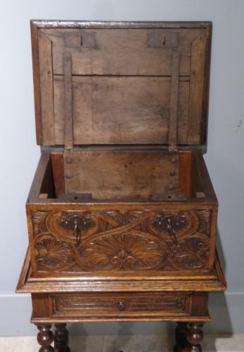 Small 17th Century Oak Chest -