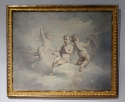 Antiquités - Pair of allegories Of Arts: Sculpture And Architecture