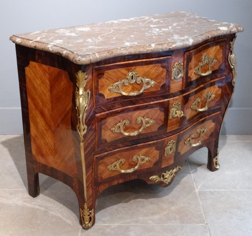 "Antiquités - French Louis XV commode stamped ""Sébastien VIE"""