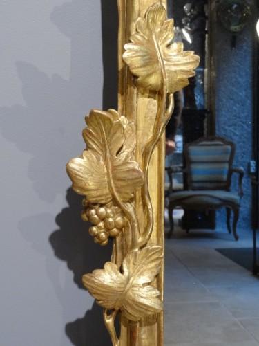 Mirrors, Trumeau  - French Louis XV giltwood mirror