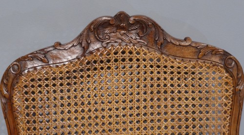 French Regence - French Regence caned fauteuils, 18th century