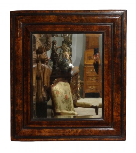 French Louis XIII Walnut Mirror
