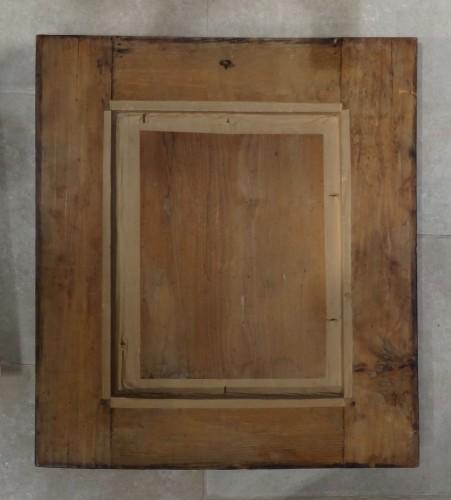 French Louis XIII Walnut Mirror -
