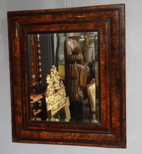 17th century - French Louis XIII Walnut Mirror