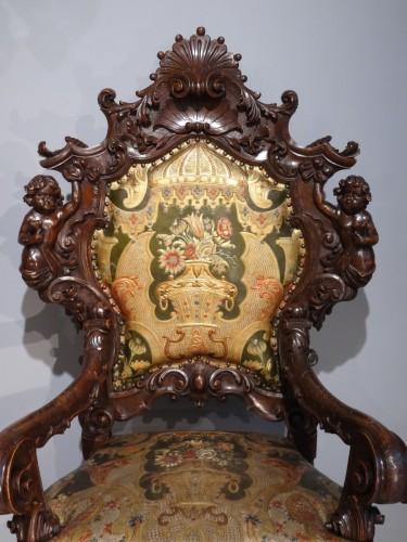 Venetian armchair 19th century - Seating Style Napoléon III