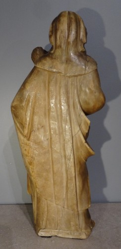 Religious Antiques  -  Virgin and Child carved alabaster Trapani, late 16th