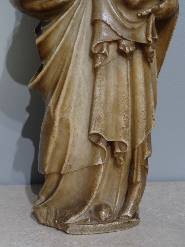 Virgin and Child carved alabaster Trapani, late 16th  - Louis XIII