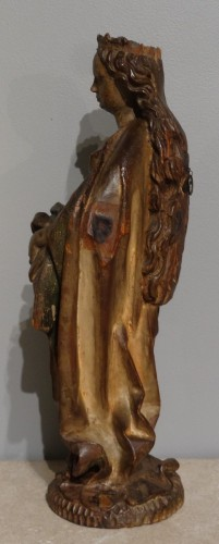 Sculpture  - German Holy, polychrome wood, 15th century