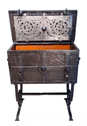"Wrought Iron Chest ""coffre De Marine"" 17th Century"