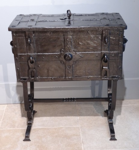 "Curiosities  - Wrought Iron Chest ""coffre De Marine"" 17th Century"