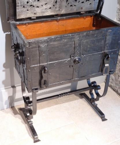 "Wrought Iron Chest ""coffre De Marine"" 17th Century -"