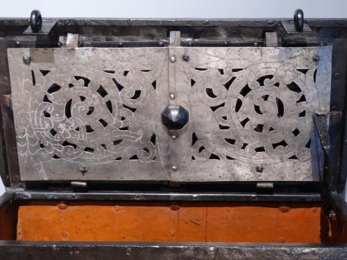 "17th century - Wrought Iron Chest ""coffre De Marine"" 17th Century"
