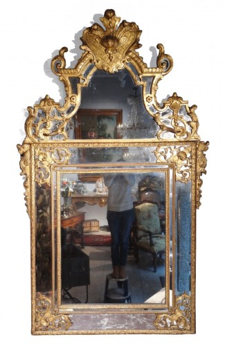 French large Regency mirror, early 18th century