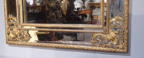 French large Regency mirror, early 18th century - Mirrors, Trumeau Style French Regence