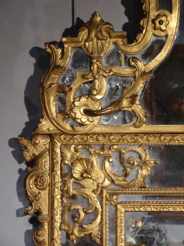 Mirrors, Trumeau  - French large Regency mirror, early 18th century