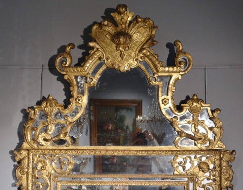 18th century - French large Regency mirror, early 18th century