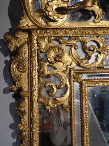 French Regence - French large Regency mirror, early 18th century
