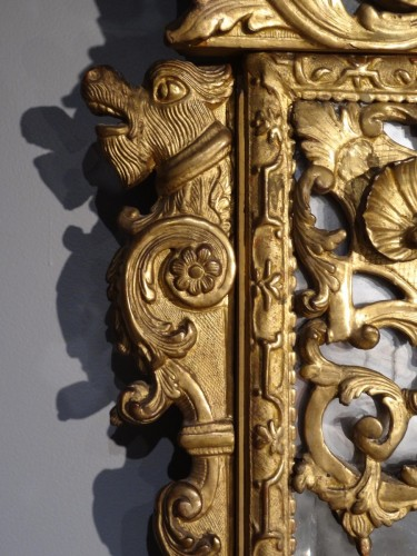 Antiquités - French large Regency mirror, early 18th century