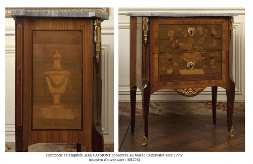 18th century - French Commode Transition Stamped J. Caumont 18th Century