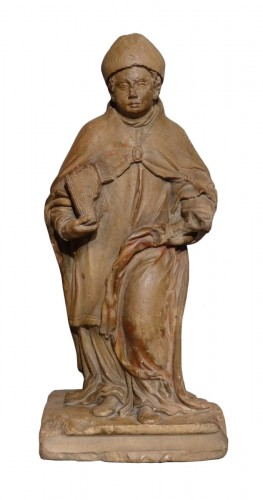 French bishop, Burgundy, carved limestone, 16th century