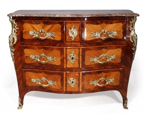 "French parisian Louis XV commode stamped ""Pierre ROUSSEL"" 18th century"