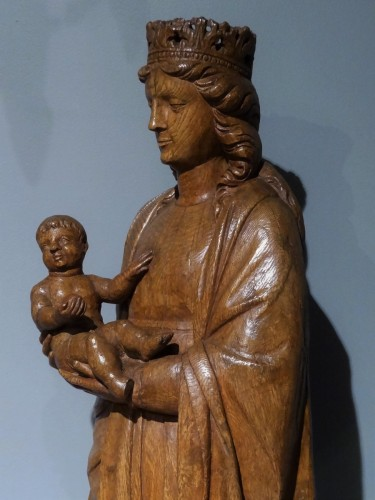 Renaissance - French Virgin and child, oak carved, early 16th century