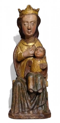 "Virgin in Majesty ""allaitante"", Catalonia, early 14th century"