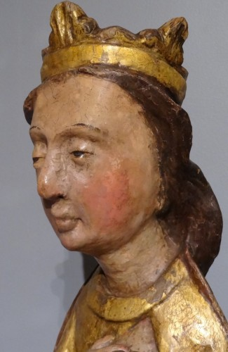 "Virgin in Majesty ""allaitante"", Catalonia, early 14th century -"