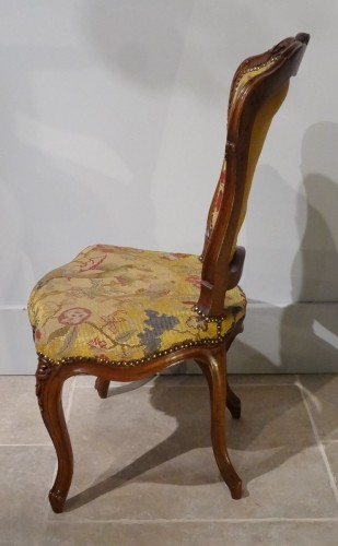 Seating  - French pair of Louis XV chairs, attributed to Pierre Nogaret
