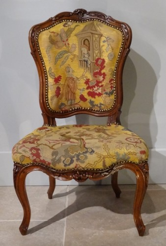 18th century - French pair of Louis XV chairs, attributed to Pierre Nogaret
