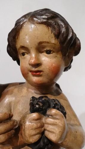 Sculpture  - Italian pair of two putti, 18th century