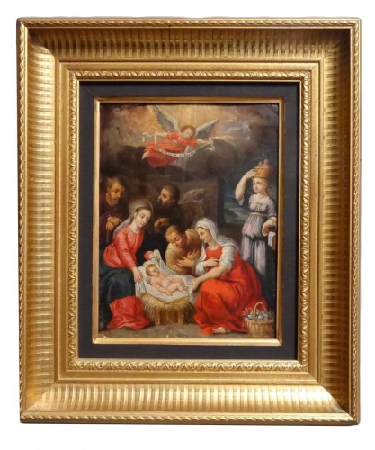 "18th century ""Nativity"" on copper"