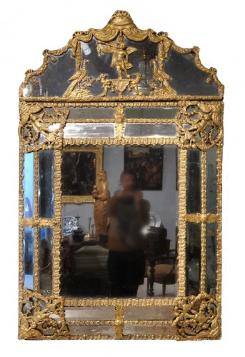 Large Louis XIV Gilt Brass mirror