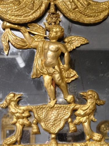 Large Louis XIV Gilt Brass mirror - Louis XIV