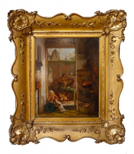 "French painting, ""interior Scene"", 19th century"