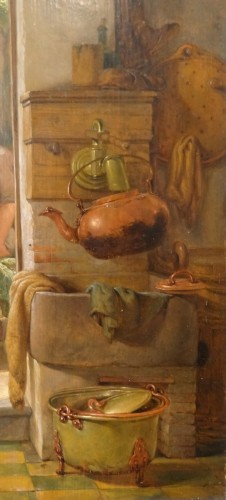 """French painting, """"interior Scene"""", 19th century  - Paintings & Drawings Style Napoléon III"""