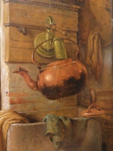 "Napoléon III - French painting, ""interior Scene"", 19th century"