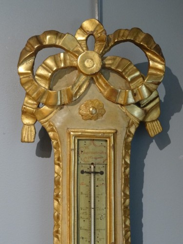 Louis XVI thermometer barometer - Decorative Objects Style Louis XVI