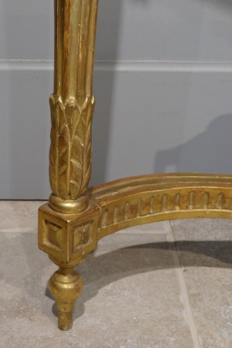 Furniture  - French Louis XVI console in gilded wood