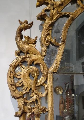 French Regency Mirror, Gilded Wood, Circa 1720 -