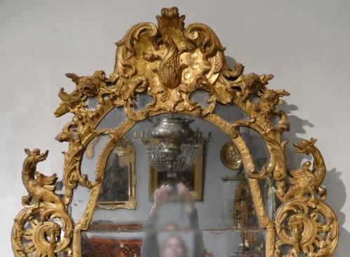 18th century - French Regency Mirror, Gilded Wood, Circa 1720